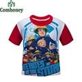 Fireman Sam T Shirts Boys Zootopia T-shirt Star Wars Tshirt for Teen Five Nights at Freddy Tee Bobo Kids Spiderman Baby Clothing