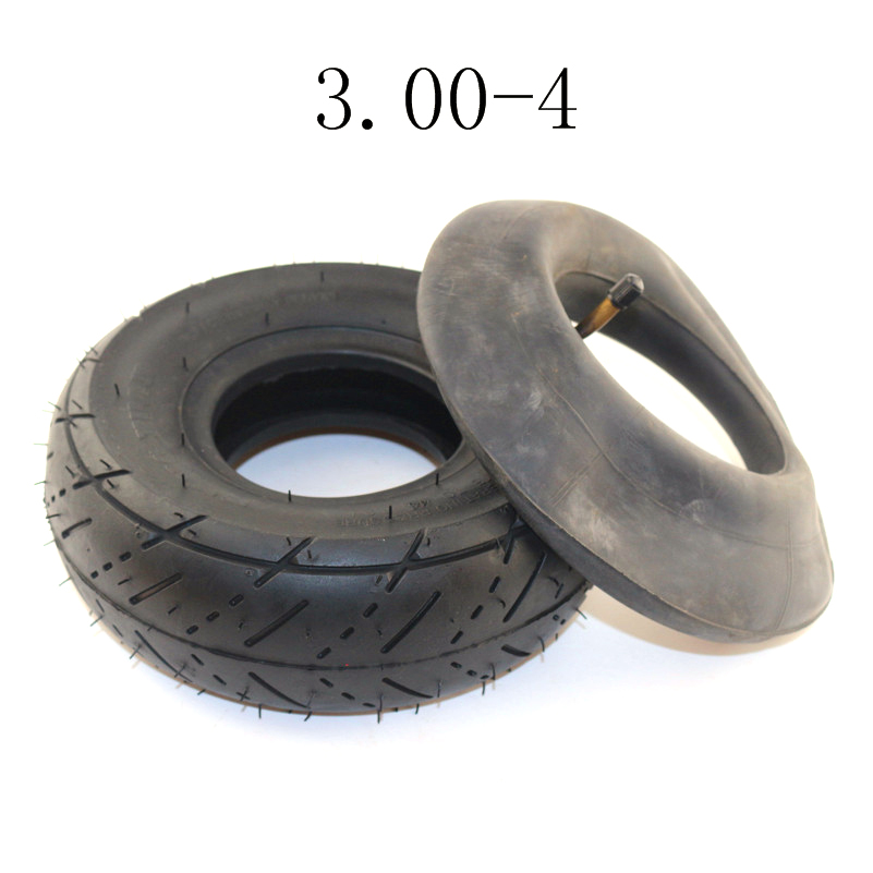 "High Quality Tyre 3.00-4 (10""x3"", 260x85) Knobby Scooter, ATV And Go Kart Electric Scooter DIY Tire And Tube Set"