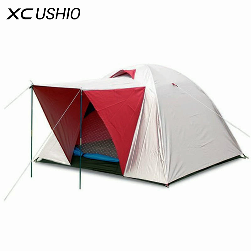 200x200x130cm Big Doule Layer Tent for 3-4 Person Outdoor Camping Hiking Hunting Fishing Tourist Emergency Tent free shipping outdoor double layer 10 14 persons camping holiday arbor tent sun canopy canopy tent