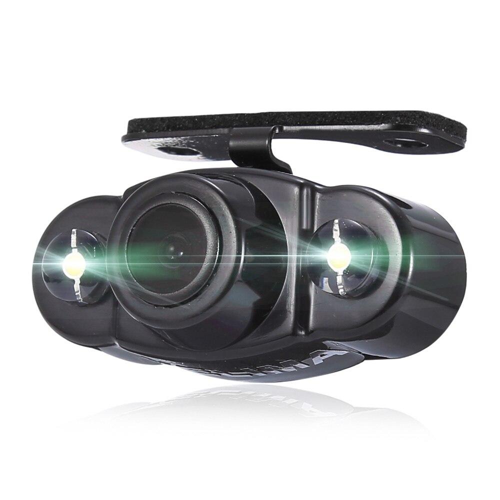imágenes para KELIMA CR22 Nigh Visión Parking Cámara de Visión Trasera de 170 Grados de Doble Led Luz Impermeable Micrófono Monitor de Espejo Retrovisor