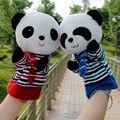 El nuevo panda bebé de juguete muñeca de dibujos animados Guantes Navy gran materiales niño animal bebé marioneta de mano