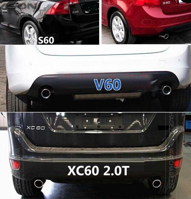 2X embout de silencieux d'échappement pour VOLVO XC60 S60 V60 2011 2012 2013 finisseur de tuyau d'échappement garniture d'extrémité silencieux couvercle de pointe style de voiture