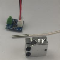 Reprap Prusa i3 Volcano PT100 upgrade kit for DIY 3D printer PT100 temperature sensor Volcano heater block