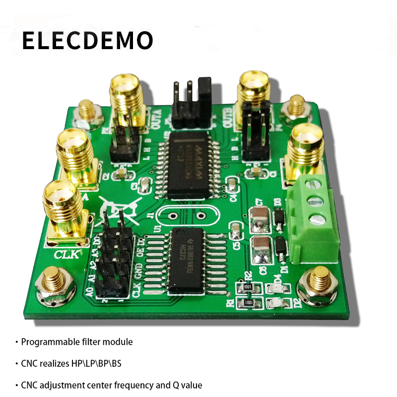 MAX262 module Programmable Filter Module Switched capacitor filter Bandpass/Highpass/Lowpass Programmable Center Frequency-in Demo Board Accessories from Computer & Office