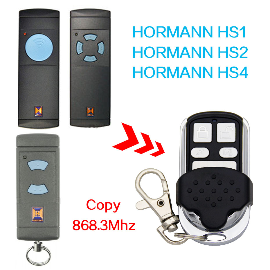 Hormann HS1 868, HS2,HS4 868mhz replacement remote control top quality Hormann remote contro/ Battery Included / Free Shipping