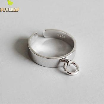 b96dc8996a0c Guarda 925 anillos de plata esterlina para las mujeres brillante hueco  pequeño círculo de mujer de moda joyería fina Simple anillo Ins estilo