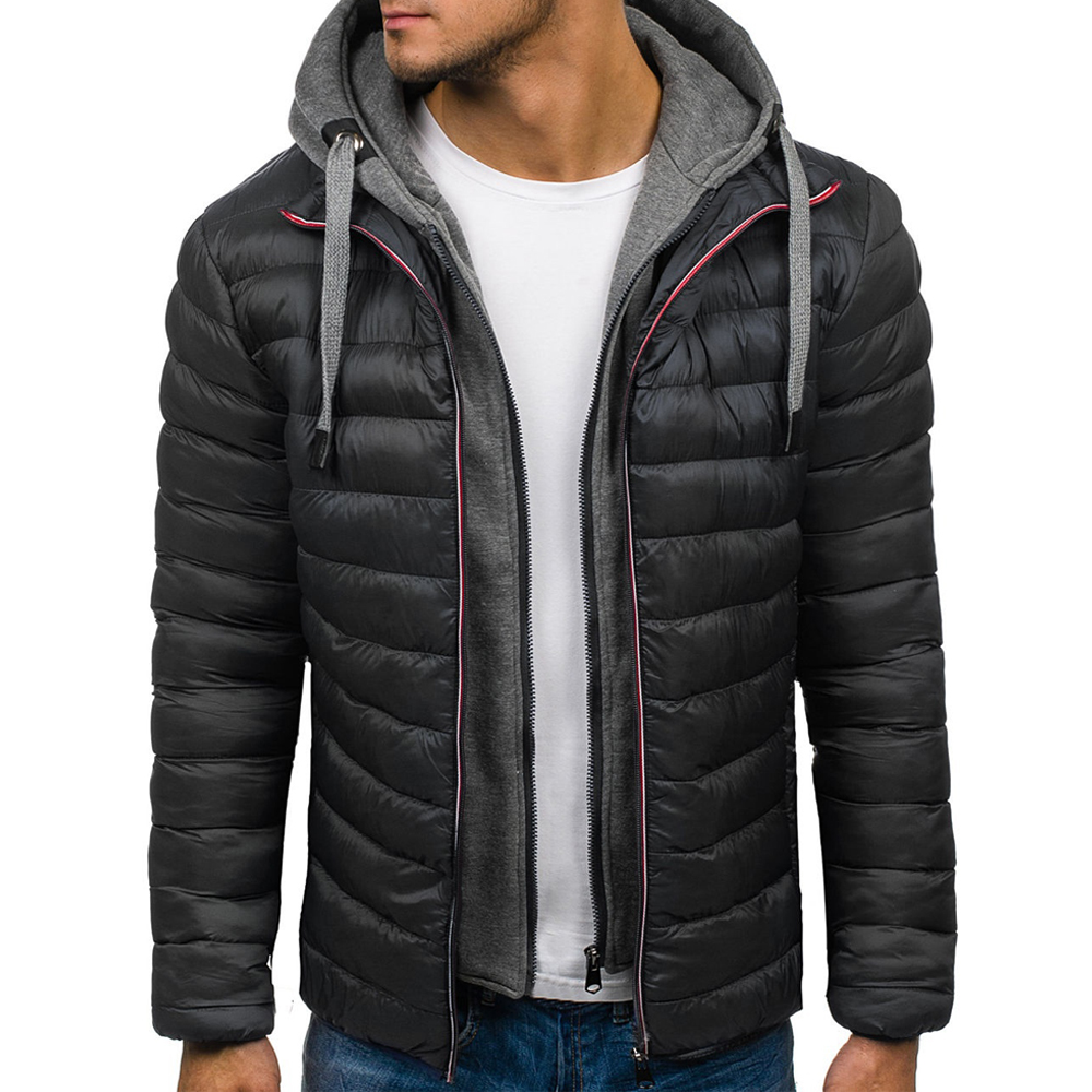 ZOGAA 4 Colors Mens   Parka   Jacket Winter Hooded Coat Men Cotton Puffer Jackets Warm Clothes Windbreaker for Man Clothing 2018
