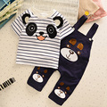 New Baby Clothing Set Bear Summer Boy Children Clothes Set Brand Sport Infant Kid Suits Tracksuits Cotton Short Sleeve+overalls