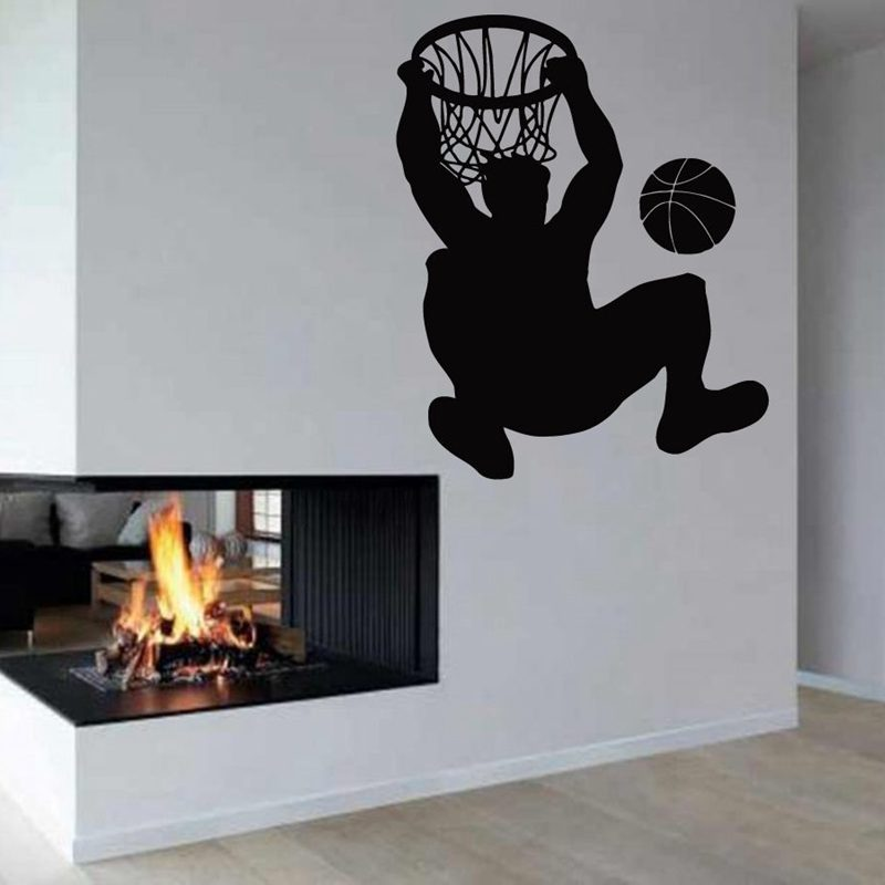 US $11 88 45% OFF|Aliexpress com : Buy DCTAL Basketball Player Sticker  Sports Decal Posters Vinyl Wall Decals Pegatina Quadro Parede Decor Mural