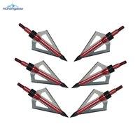 Arco compuesto o ballesta de caza puntas de flecha de 108 granos fija 3x hoja de 2 pulgadas de diámetro de corte de punta de caza de tiro con arco 12 unids