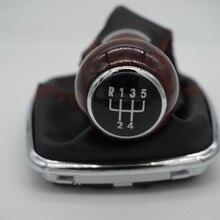 12 мм деревянное зерно рукоятка для рычага переключения передач Gaitor Boot 5 скоростей для Volkswagen VW 1999-2004 Golf 4 IV MK4 GTI R32 Bora Jetta