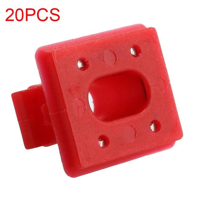 Hebilla de fijación para Panel Interior de 20 piezas, para BMW E46 / E65 / E66/E83N, Clips embellecedores para tablero, arandelas para insertar en tira roja
