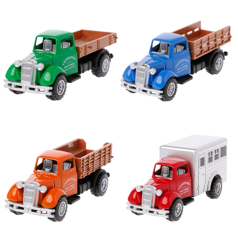 Working Truck Vintage Vehicles Model Kids Playing Car Toy Roleplay Action