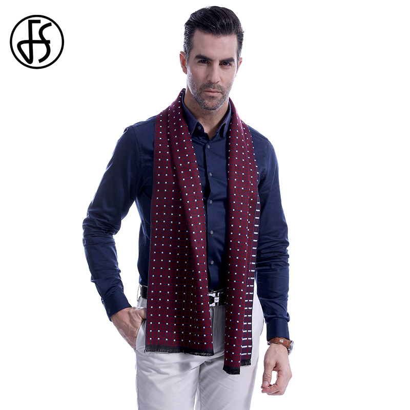FS Tassel Plaid Scarf Men Winter Warm Long Cashmere Scarves For Men Pashmina Shawls Echarpe Homme Cachecol Masculino Inverno