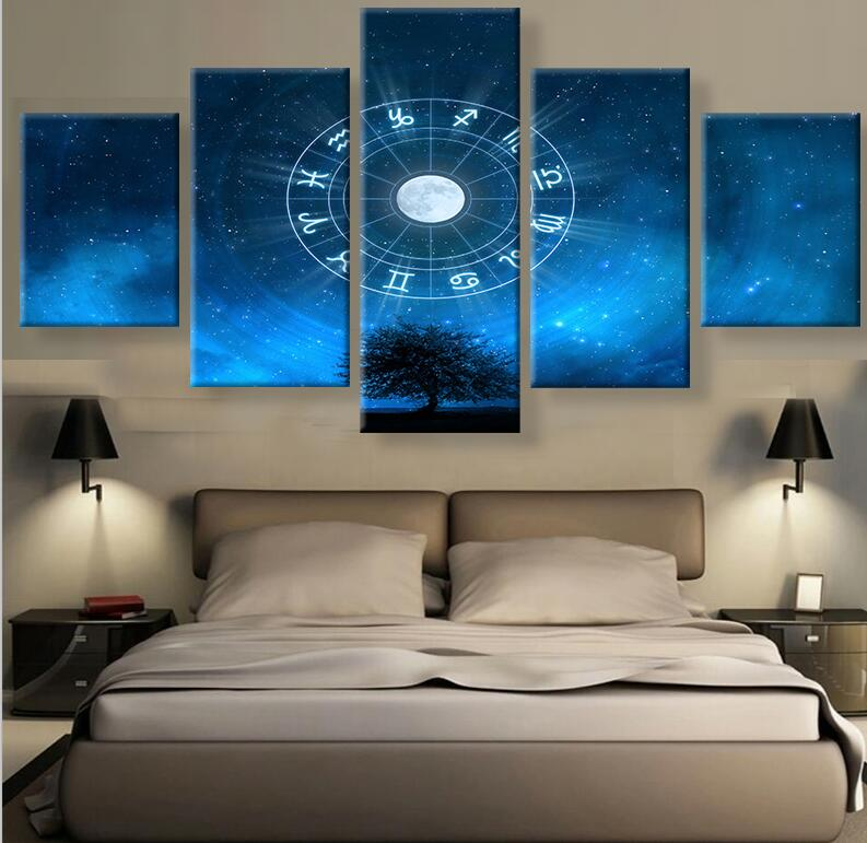 12 Zodiac Sign Canvas Painting Wall Art Prints Home Decor