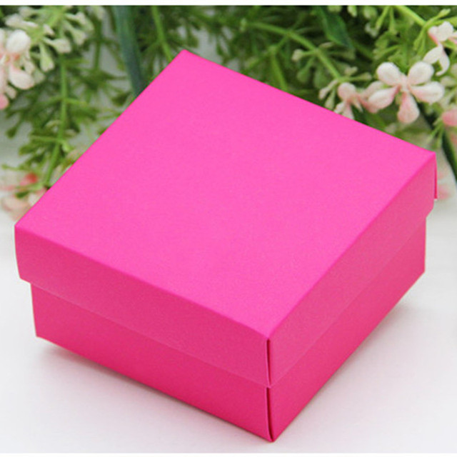 100pcs Lot Hot Pink Candy Chocolates Box For Wedding Invitations Gifts And Favor Birthday Supplies
