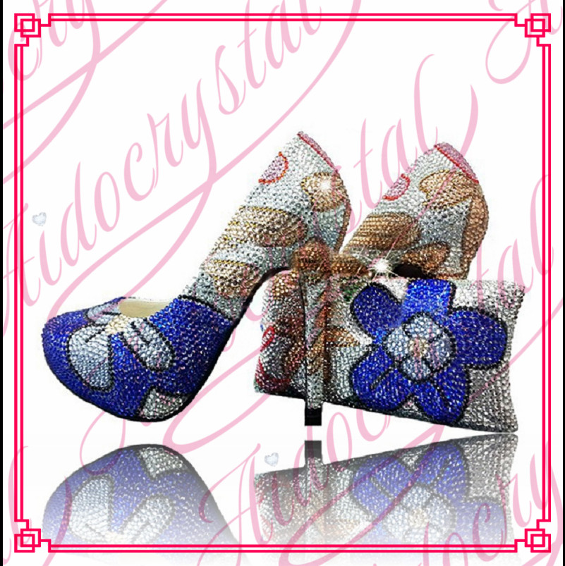 Aidocrystal New Arrival flower series High quality matching italian shoe and bag set lady high heels to match women dress new lp2k series contactor lp2k06015 lp2k06015md lp2 k06015md 220v dc