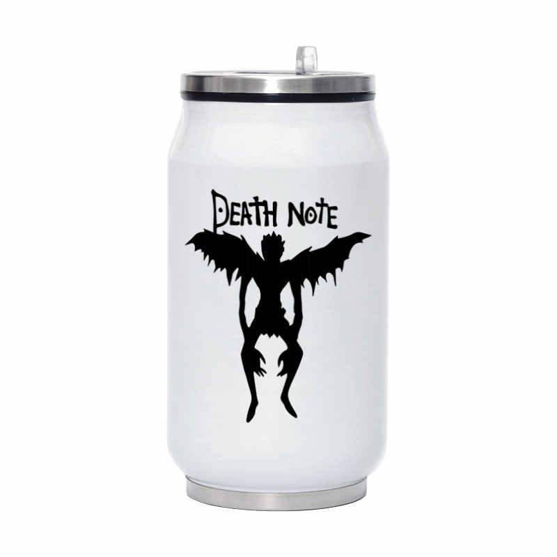 L Ryuk Death Note Anime Funny Travel Water Bottle 280ML Stainless Steel Coffee Vacuum Flask Portable Mug With Straw Y003