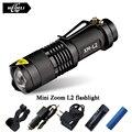 Мини Зум lanterna Светодиодный фонарик Факел CREE XML T6 L2 Led перезаряжаемые Фонарик 2800 Люмен Использовать 18650 аккумулятор