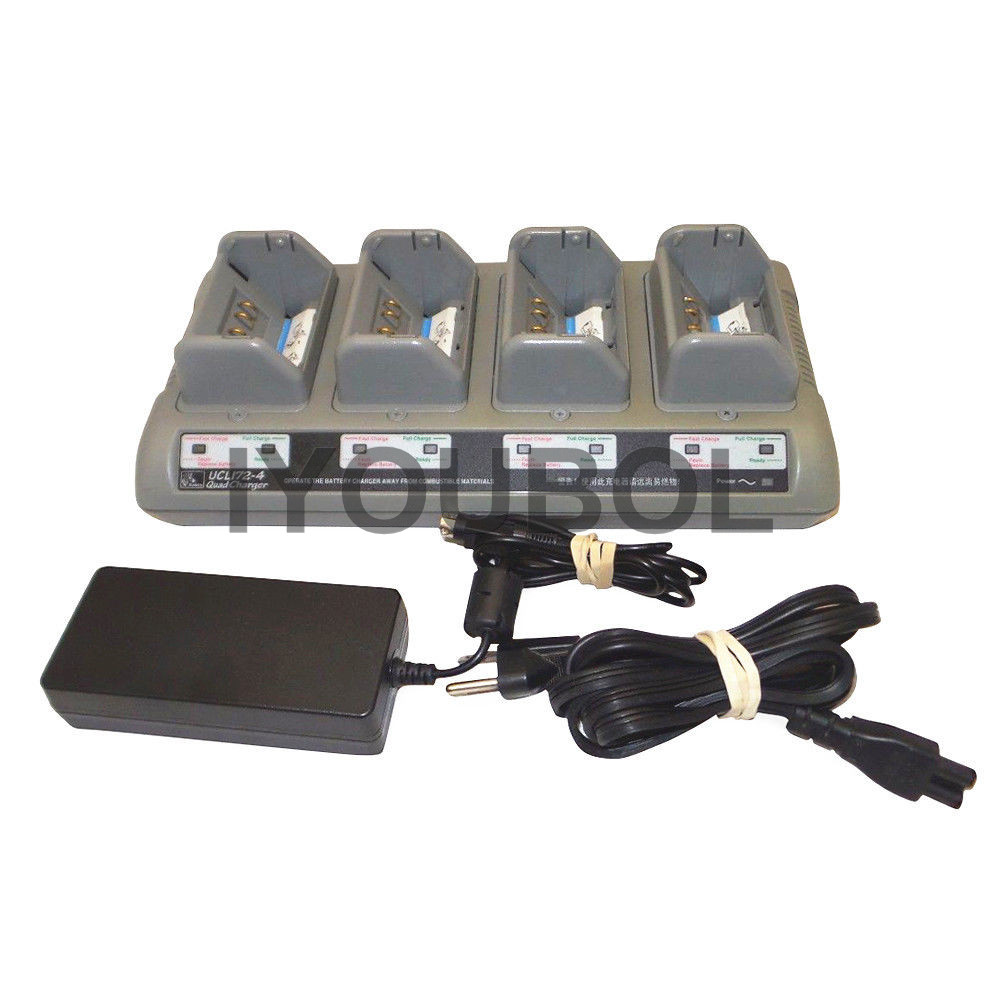 Zebra UCL172-4 Quad Battery Charger for QLn420 QLn320 and QLn220 Printers