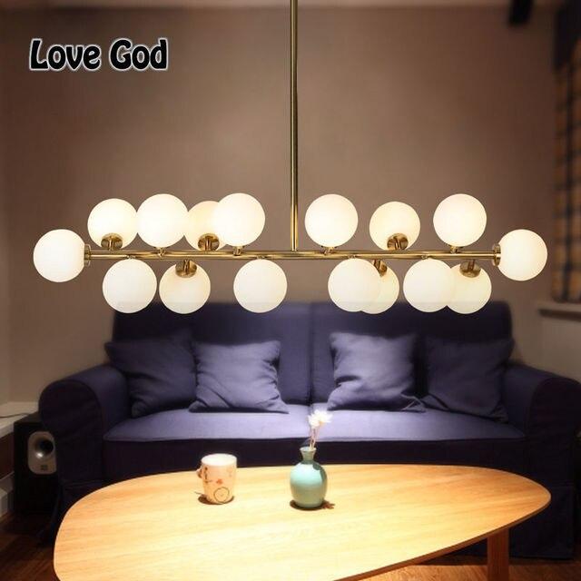 Modern Gold Black Magic Bean Led G4 Pendant Lights Living Dining Room Shop