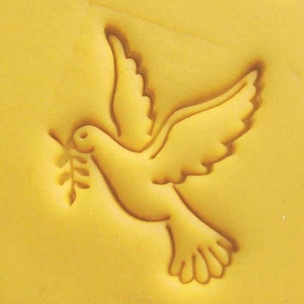 ③peace Dove Olive Branch Pattern Handmade Soap Stamp Chapter Mini