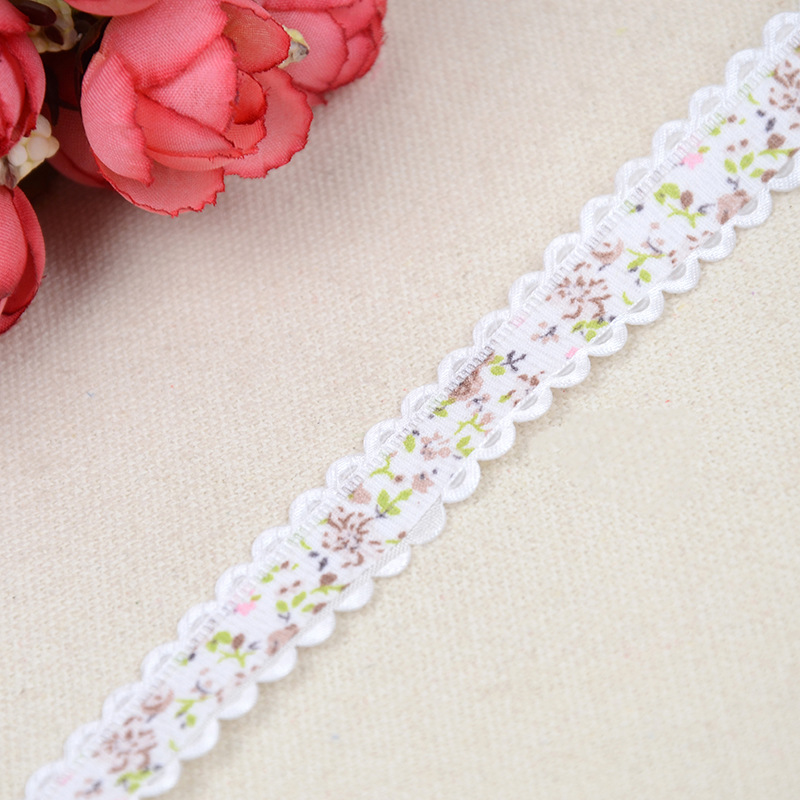 New Chrysanthemum Nail Lace Ribbon Gift Box Packaging Ribbon Webbing Headdress Bow Decoration Accessories 1 5cm 20 Yards in Webbing from Home Garden