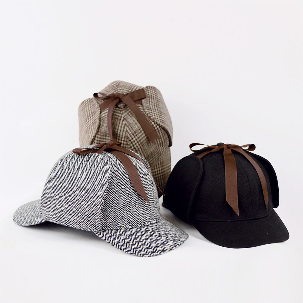 Sherlock Holmes Hat Novelty Gifts Movie Deerstalker Cosplay Hat Detective Cap Unisex Costumes Flat Caps Hip Hop Accessories