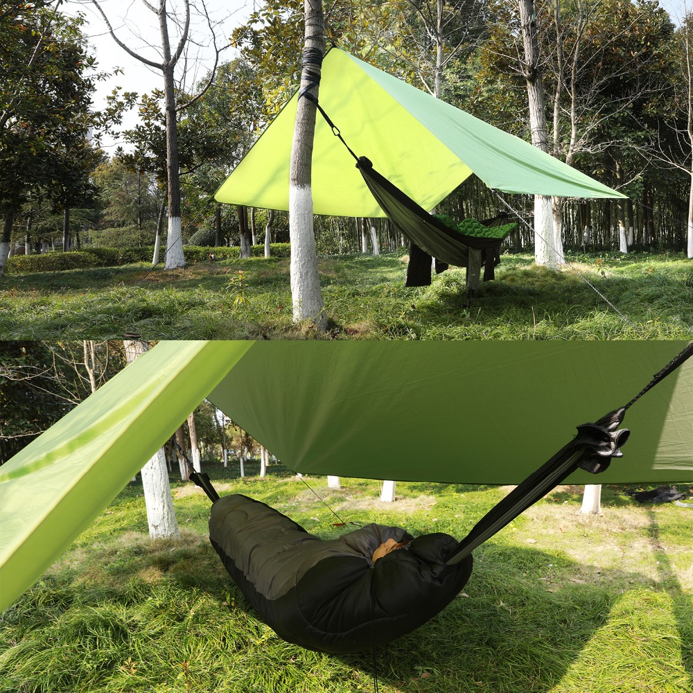 1-2 Person Outdoor Mosquito Net Parachute Hammock Camping Hanging Sleeping Bed Swing Portable Double Chair Hammock