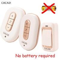 30sets Lot AC Self Powered Wireless Doorbell Waterproof Wireless Door Bell No Need Battery Door Chimes