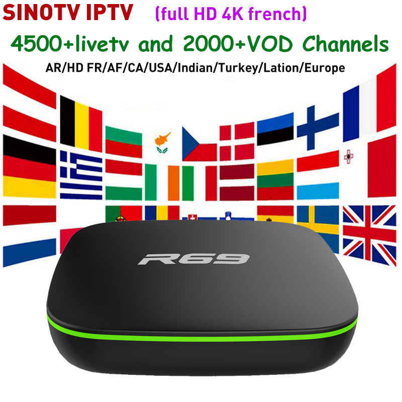 Günstigstes TV Box Android 7.1 R69 Allwinner H3 Mit SINOTV 1 jahr Abonnement für Kanada Frankreich Arabisch Deutschland Italien UK USA IPTV-in Digitalempfänger aus Verbraucherelektronik bei AliExpress - 11.11_Doppel-11Tag der Singles 1