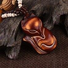 Богемное народное дерево ручной работы ожерелье с сосной Ретро лисой кулон сотуар длинный деревянный Бохо Племенной свитер цепь для женщин