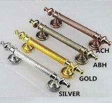 350 290 260MM antique brass wood door handle Unfold Install antique copper big gate door pull silver chrome wooden door handles