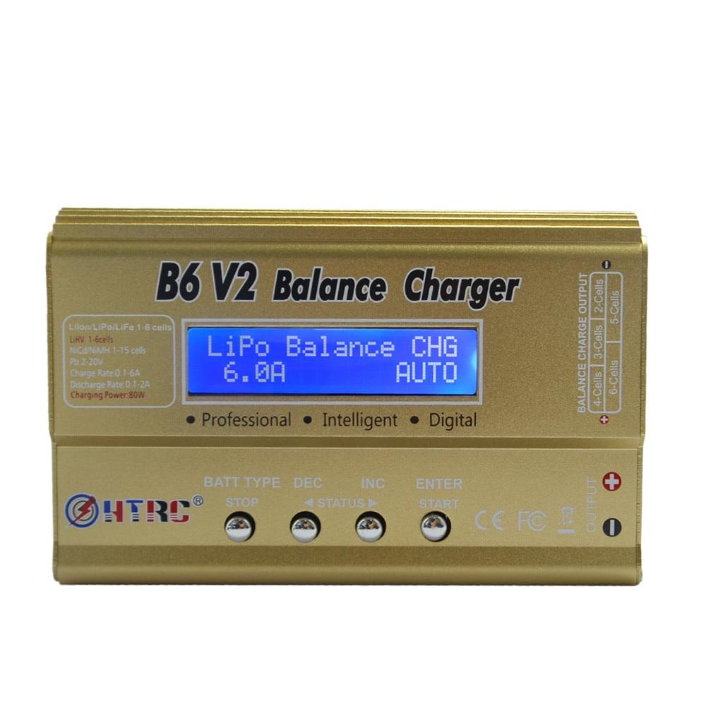 HTRC Imax B6 V2 80 W 6A RC Balance Charger Per LiIon/LiFe/NiCd/NiMH/Alta Batteria di alimentazione LiHV 15 V 6A AC Adattatore Opzionale
