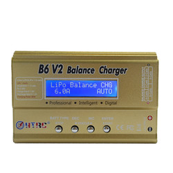 HTRC Imax B6 V2 80W 6A RC Balance Charger For LiIon/LiFe/NiCd/NiMH/High Power Battery LiHV 15V 6A AC Adapter Optional