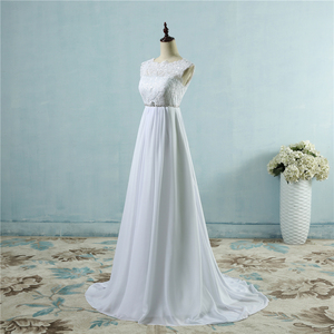 Image 2 - ZJ9058 Hot Sale Beach crystal 폰 웨딩 드레스 2019 엠파이어 스테이트 빌딩 (Empire 페르시 보헤미안 Bridal 가운 Plus size