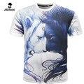 2016 Hombres Ocio 3D Anime Cartoon lion Creativo Camiseta, 3d Impreso camiseta de Manga Corta Camisetas Tops Camiseta Homme Plus Tamaño XXXL