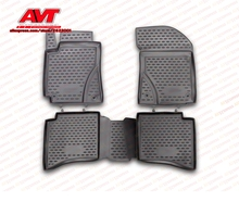 Floor mats for Geely MK Cross 2012- 4 pcs rubber rugs non slip rubber interior car styling accessories