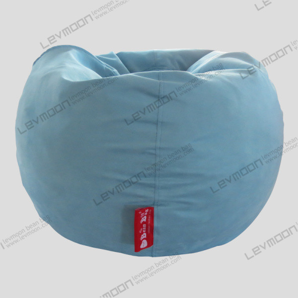 Free Shipping Large Bean Bags Chairs No Filling Drop Light Blue Suede Indoor