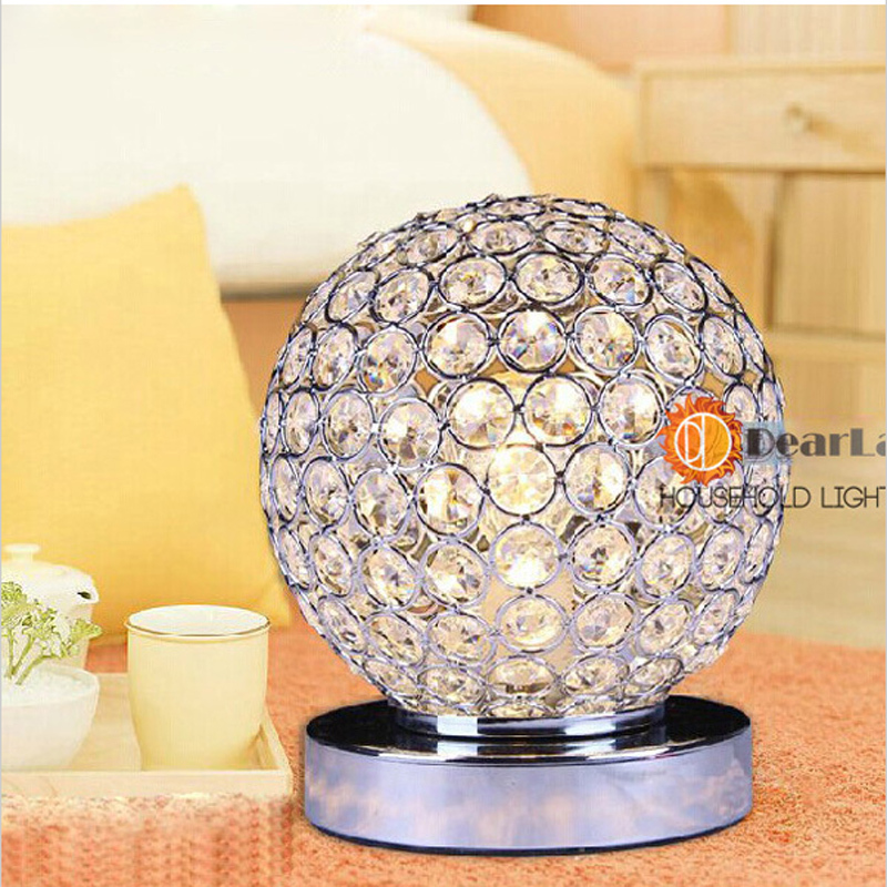 Modern Crystal Table Lamps For Bedroom,Living Room,Study,Office Modern  Crystal Glass