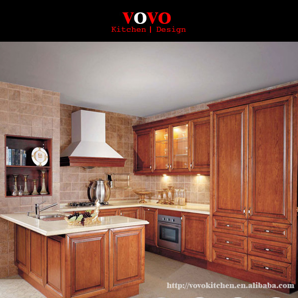 Solid Wood Cherry Kitchen Cabinets: Solid Cherry Wood Kitchen Cabinet-in Kitchen Cabinets From