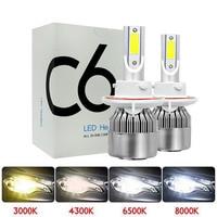 Super bright Auto H7 H11 LED Car Headlight 9006 H1 H3 9005 880 881 H27 H4 LED Dual Color Headlight Kit 3000K 6000K 4300K 8000K Car Headlight Bulbs(LED)     -