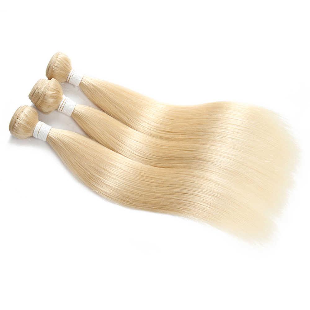 Бразильские 100% remy волосы переплетения пучки EUPHORIA Омбре черный мед блонд 613 цвет прямые человеческие волосы пучки уток для наращивания