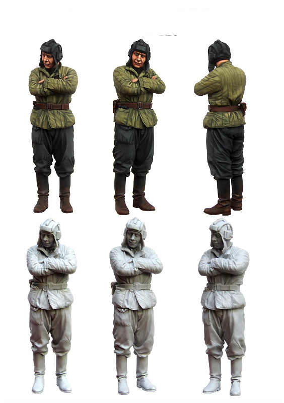 [tuskmodel] 1 35 scale soviet soldier arise resin model figures kits