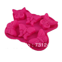 Free Shipping 6 Even The Butterfly Silicone Cake Mold Chocolate Mold Handmade Soap Mold