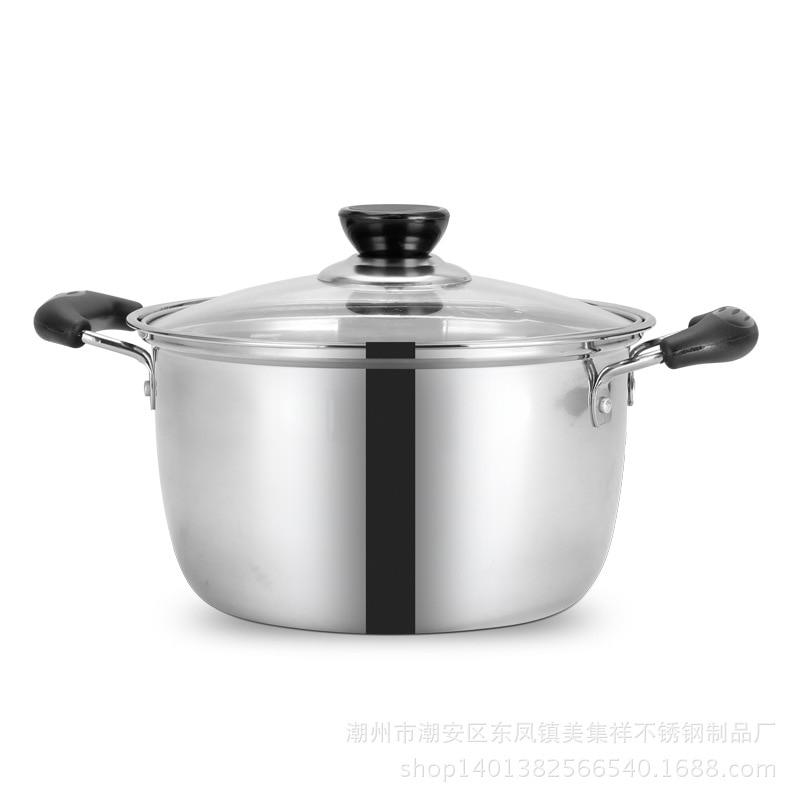 1pcs 1.5L-4L Double Soup Pot Nonmagnetic <font><b>Cookware</b></font> use