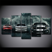 5 Piece HD Canvas Art Painting – Muscle Cars  C5V1