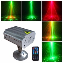 24 modes Patterns Laser Projector light LED RG stage Disco Flash lamp for new year dance floor Christmas Party indoor light show недорого