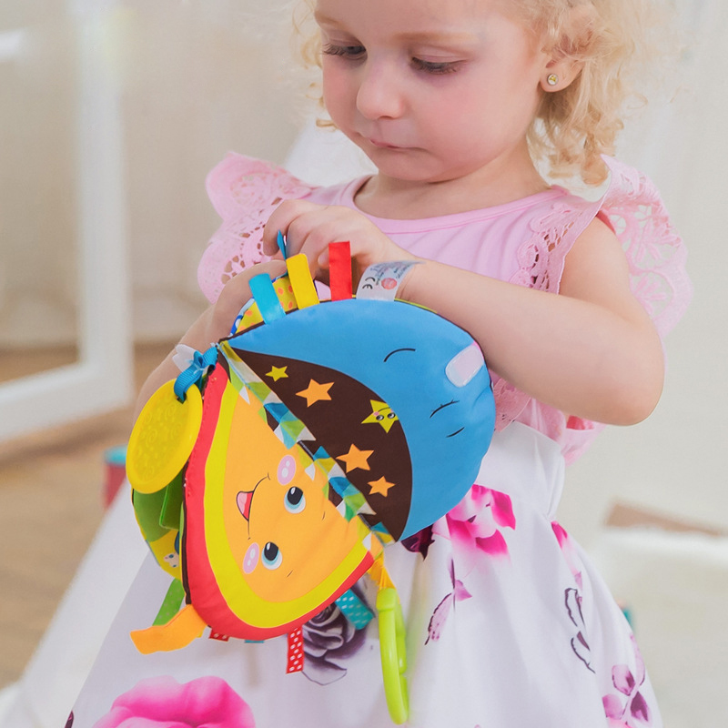 Baby Toys Newborn Bed Bells Stroller Hanging Rattles Teether Animal Forest Paradise Baby Toy 0-12Months Story Cloth Books