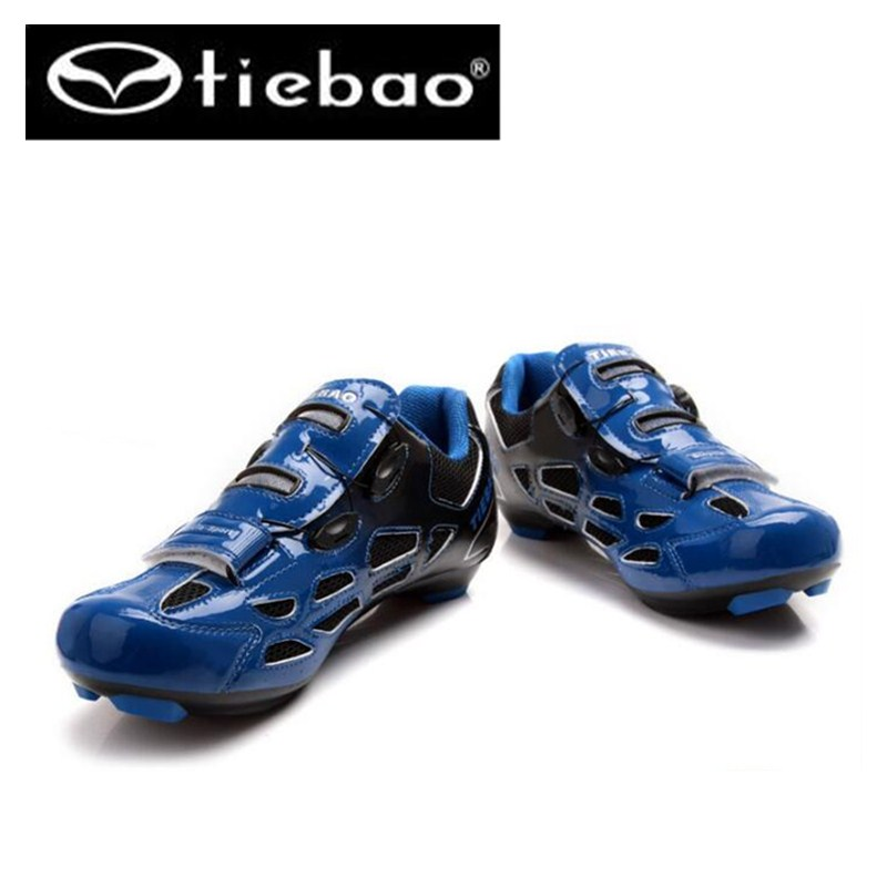 ФОТО TIEBAO Cycling Shoes Men Women Road Bike Bicycle Shoes cheap-sneaker superstar Self-locking Athletic Shoes zapatillas ciclismo